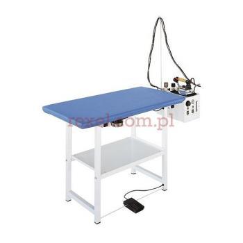 Stół prasowalniczy z wytwornią 5L z żelazkiem i stopą teflonową