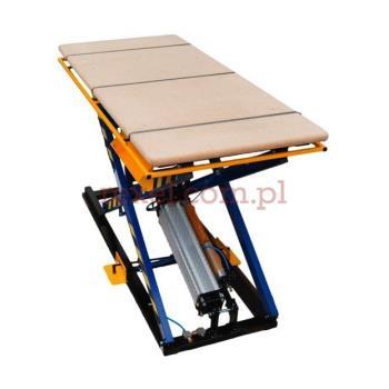 Stół tapicerski z kontrolerem i ramką bezpieczeństwa