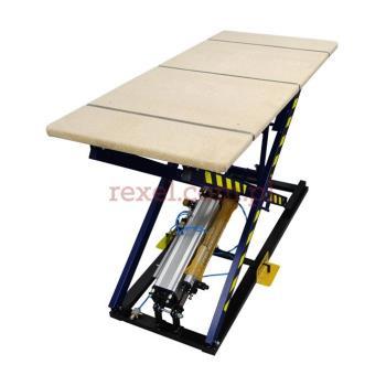 Stół tapicerski z kontrolerem i systemem pozycjonowania