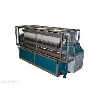 Maszyna do rozwijania i odcinania tkanin powlekanych PCV