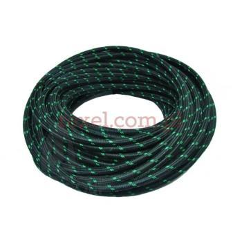 Przewód parowy gumowy czarny oplocie bawełnianym 5x2mm