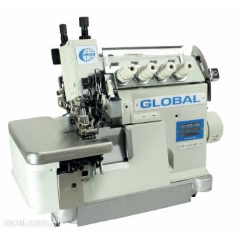 Maszyna szwalnicza GLOBAL overlock 5-nitkowy z górnym transportem