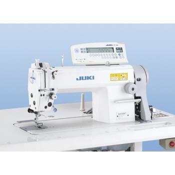 Maszyna szwalnicza - stebnówka z transportem igłowym, automatyką i powiększanym chwytaczem