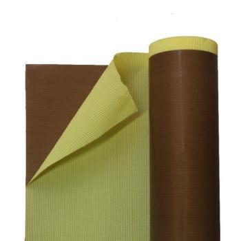 Tkanina teflonowa brązowa z klejem gr.0,13mm szerokość 1000mm