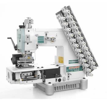 Maszyna szwalnicza 12-igłowa łańcuszkowa do szycia gumkami