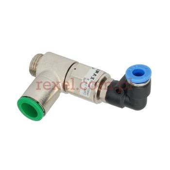 """Zawór pneumatyczny G1/4"""" blok jednokierunkowy na wąż 10mm z RK1214 i RQSL M56"""