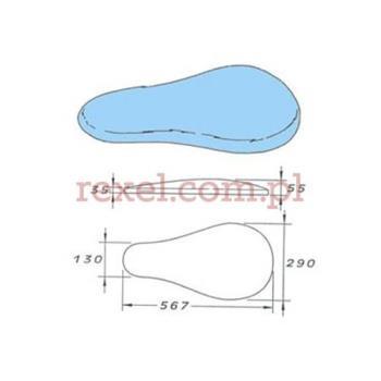 COMEL prasulec w formie poduszki podgrzewany elektrycznie z pokrowcem