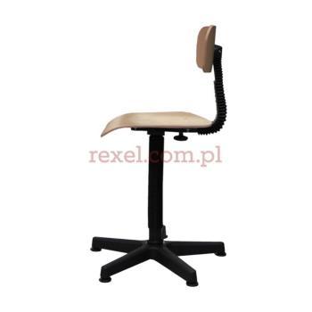 Krzesło obrotowe sklejkowe twarde na podnośniku gazowym KT-4