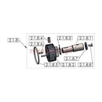 Koło zębate mocowania ostrza kpl. do UK-1 o średnicy ostrza 125mm