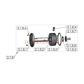 Koło zębate mocowania ostrza kpl. do UK-1 o średnicy ostrza 150mm