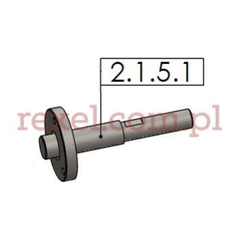 Wałek napędu posuwu do UK-1 o średnicy ostrza 125mm, 150mm