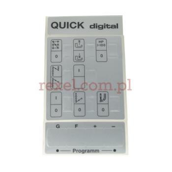 Quick - zestaw etykiet samoprzylepnych panelu sterującego