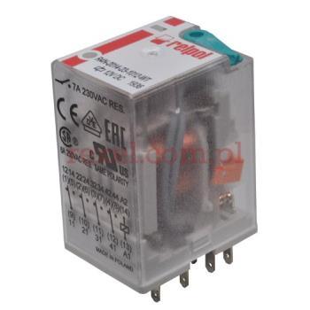 Przekaźnik RELPOL R4N-2014-23-1012-WT 12V DC do odkrawacza OT-1/A z czujnikami zbliżeniowymi
