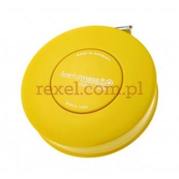 Miarka krawiecka zwijana 150cm - kolor żółty