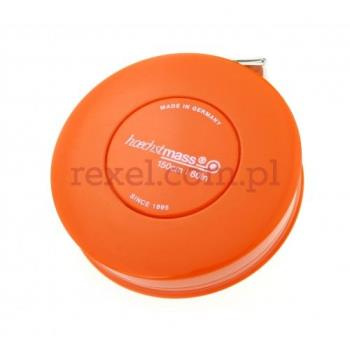 Miarka krawiecka zwijana 150cm - kolor pomarańczowy