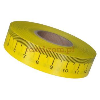 Miarka krawiecka naklejana 20mb. z podziałką w centymetrach, skala od lewej do prawej