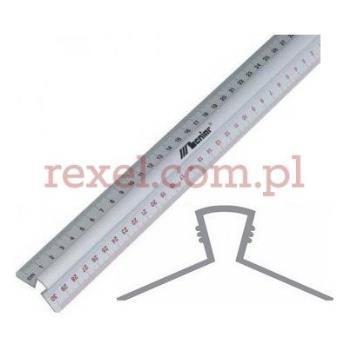 Przymiar liniowy aluminiowy z uchwytem 200cm