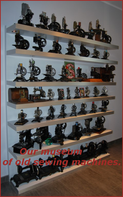 Our museum of old sewing machines